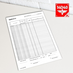 Druk R25 - Wykaz zdawczy - A4