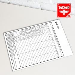 Karta próby hamulca - A5