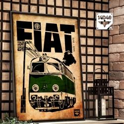 """Poster """"SU45 FIAT"""""""